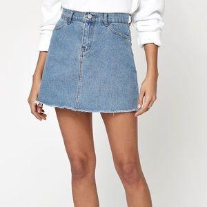 Brandy Melville light wash denim skirt